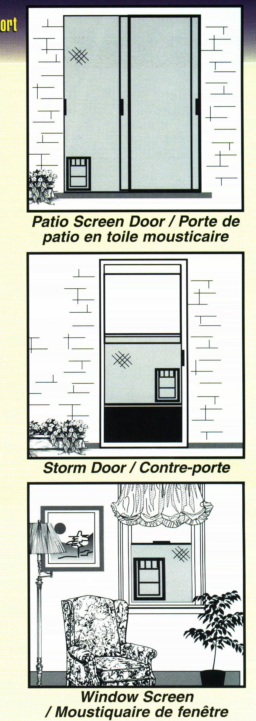 Pices pour portes patio et fentres for Tout pour la maison